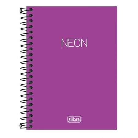 Caderneta capa plástica 1/8 Neon Roxo S/P 80 Fls - Tilibra