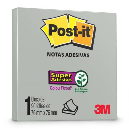 Bloco Post-it 654 - Gris - com 90 folhas - 3M