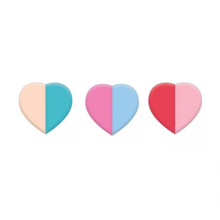Borracha colorido coração Twist - 314838 - Tilibra