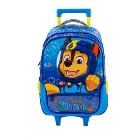 Mochila escolar com roda - 7950/19 - Patrulha Canina - Paw Sea Patrol Boy 16 - Xeryus