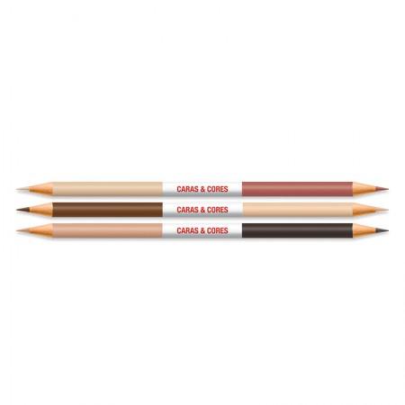Lápis de cor Caras e Cores 24 cores+6 tons de pele 120124CC Faber-Castell