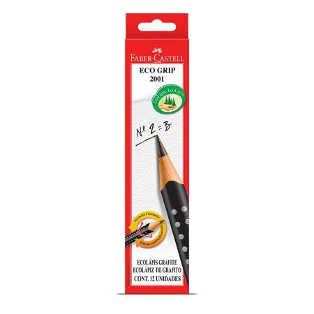 Lápis preto nr 2B - 2001BPR - caixa com 12 unidades - Faber-Castell
