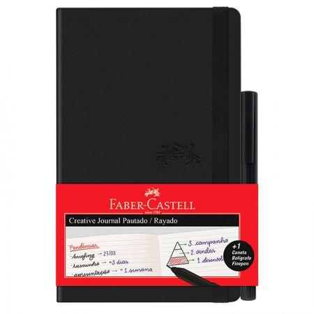 Caderneta Criative Journal pautado - 84 folhas - preto - CDNETA/PR - Faber-Castell