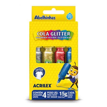 Cola glitter 4 cores 15g - Acrilex