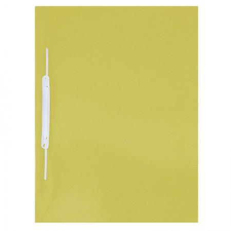 Pasta com grampo trilho ofício plástica - Amarela - 1039.AM - ACP