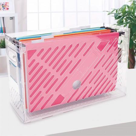 Organizador Dellocolor - cristal - 0321.H - com 6 pastas suspensas coloridas - Dello
