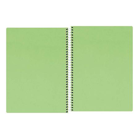 Caderno espiral capa dura sem pauta Pequeno 1/4 - 96 folhas - Neon Verde - Tilibra