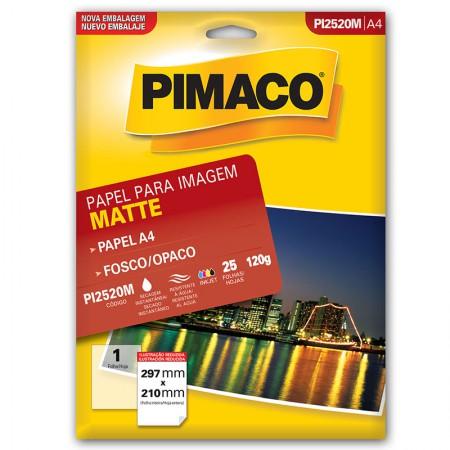 Papel matte fosco dupla face A4 PI2520M 25 fls Pimaco