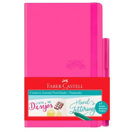 Caderneta Criative Journal pontilhado - 84 folhas - rosa - CDNETA/RS - Faber-Castell