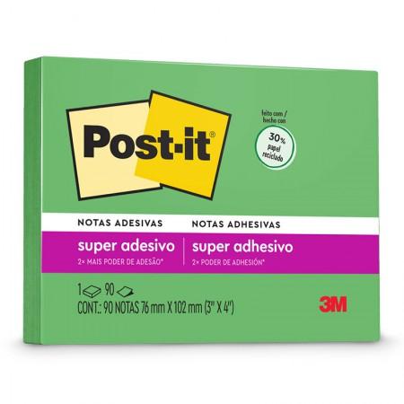Bloco Post-It 657 reciclado - verde - com 90 folhas - 3M