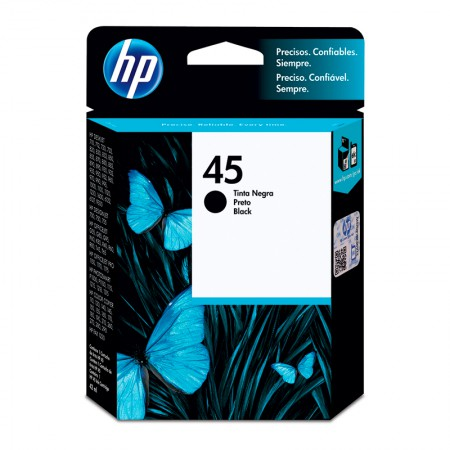 Cartucho HP Original (45) 51645AL - preto rendimento 930 páginas