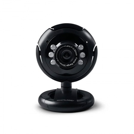 Câmera webcam usb com microfone 16MP - WC045 - Multilaser