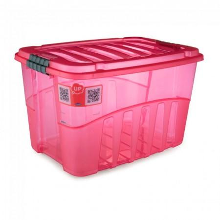 Caixa organizadora Gran Box alta vermelha - 9066 - 29 litros - Plasútil