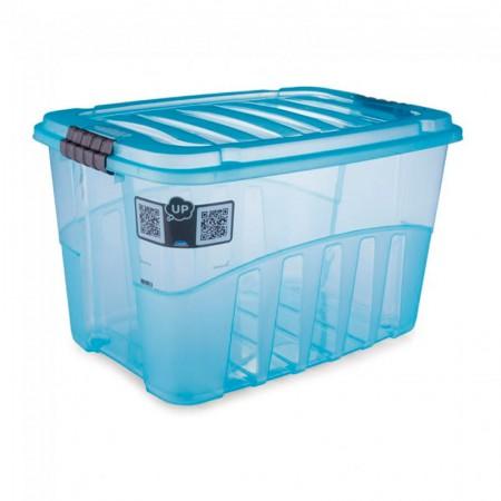 Caixa organizadora Gran Box alta azul - 9067 - 29 litros - Plasútil