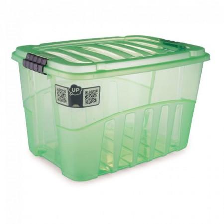 Caixa organizadora Gran Box alta verde 9068 29L Plasútil