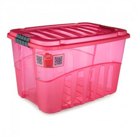 Caixa organizadora Gran Box alta vermelha 9069 56L Plasútil