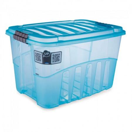 Caixa organizadora Gran Box alta azul - 9070 - 56 litros - Plasútil