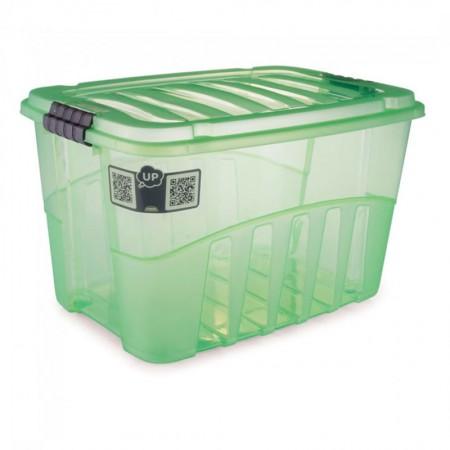 Caixa organizadora Gran Box alta verde - 9071 - 56 litros - Plasútil