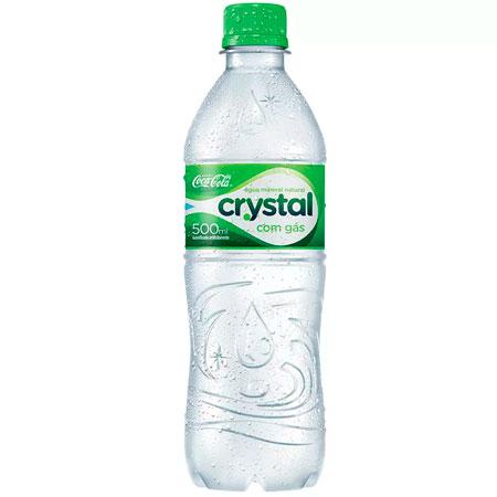 Água mineral Crystal com gás - pet 500ml