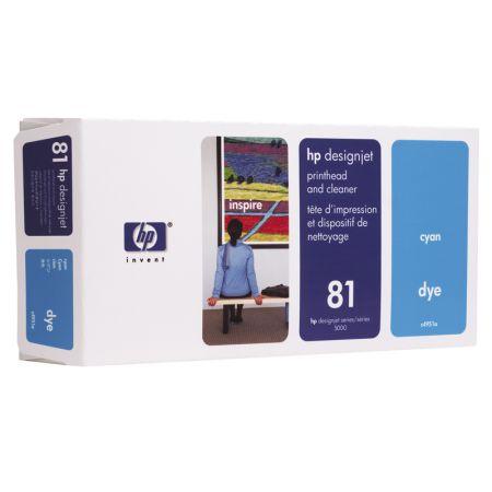Cabeça de impressão HP Original (81) C4951A - ciano 680ml