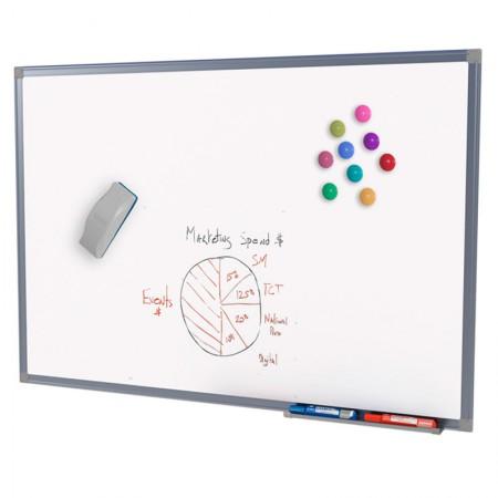 Quadro branco moldura de alumínio Magnético - 40x60cm - 8039 - Stalo