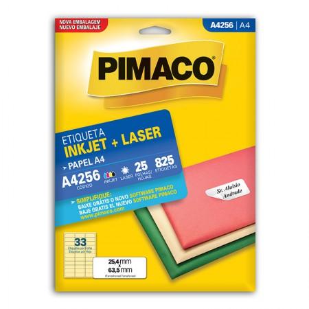 Etiqueta inkjet/laser A4256 - com 25 folhas - Pimaco