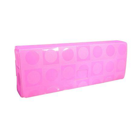 Estojo escolar plástico - 2356PI - Vision pink - Dac