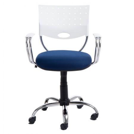 Cadeira Rombo giratória azul - CA0288 - Rossi