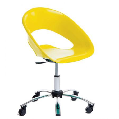 Cadeira One giratória amarela - CA0436 - Rossi