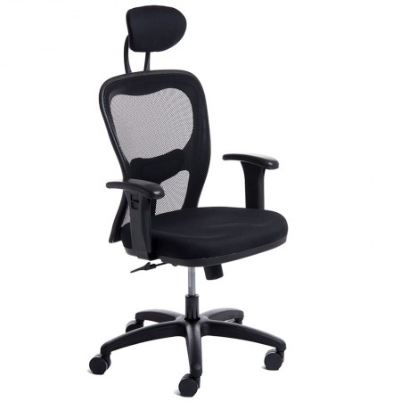 Cadeira Citiz giratória preta/base preta - CA0269 - Rossi