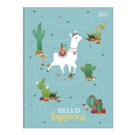 Caderno brochurão capa dura universitário 1x1 - 80 folhas - Hello - Capa 1 - Tilibra