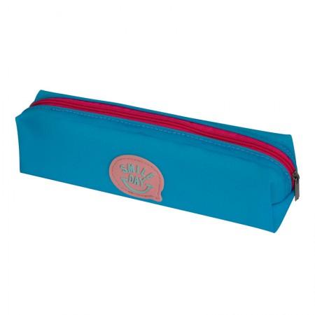 Estojo Escolar com ziper - E188 - Smile Day Azul - Dac