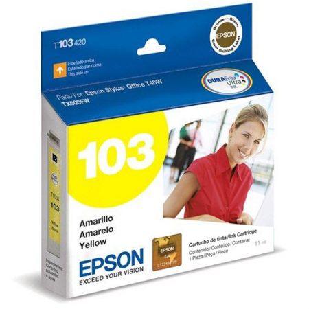 Cartucho Epson (103) T103420 - amarelo 815 páginas
