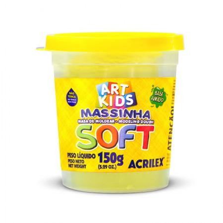 Massa de modelar Soft 150g - Amarelo Limão 102 - Acrilex