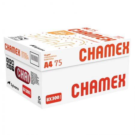 Papel sulfite A4 75g com 8 resmas - caixa com 2400fls Chamex