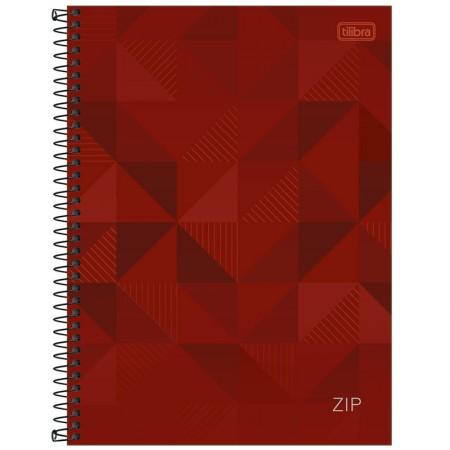 Caderno espiral capa dura universitário 1x1 - 96 folhas - Zip - vermelho - Tilibra