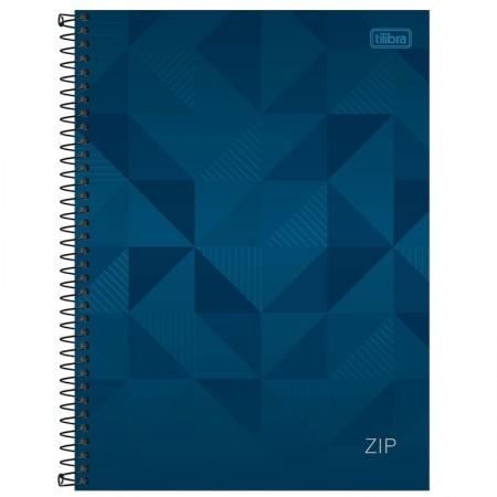 Caderno espiral capa dura universitário 1x1 - 96 folhas - Zip - azul - Tilibra