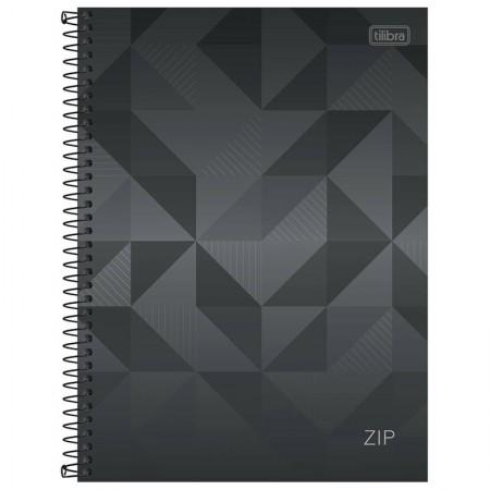 Caderno espiral capa dura universitário 1x1 - 96 folhas - Zip - cinza - Tilibra