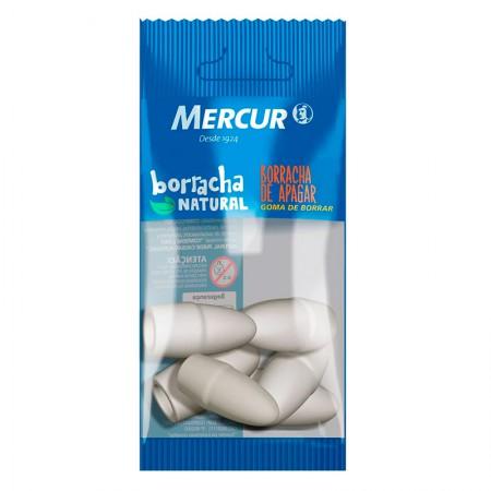 Borracha branca ponteira - Blister com 6 unidades - Mercur