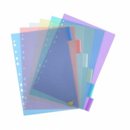 Divisória colorida ofício - 12 projeções - 12INTB - Yes