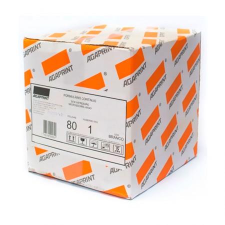 Formulário contínuo 80 colunas 1 via branco com 2500 - 170 Microform - Agaprint