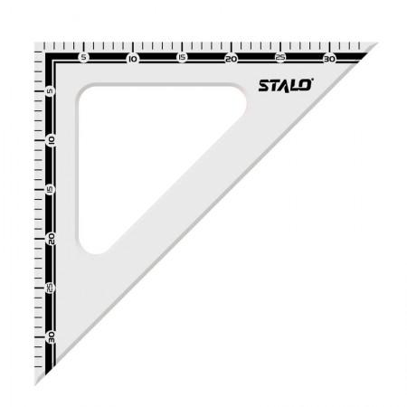 Esquadro de madeira 31cm x 45 graus - 8280 - Stalo