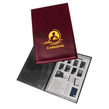 Pasta para cardápio luxo 324 - com 4 folhas - ACP
