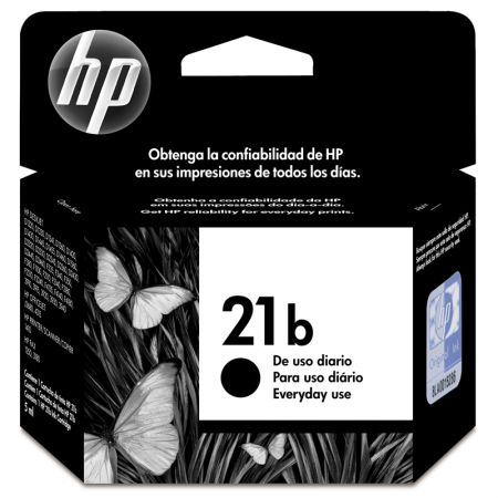 Cartucho HP Original (21)C9351BB preto rend.190pgs