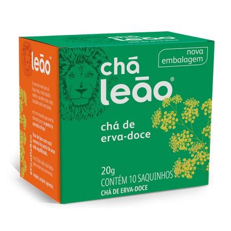 Chá de erva doce - com 10 unidades - Leão Fuze