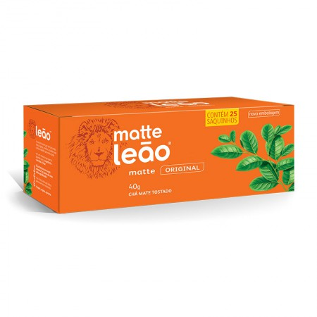 Chá Matte natural - com 25 unidades - Matte Leão