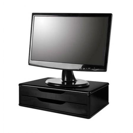 Suporte para monitor 2 gavetas MDF  Black Piano - 5000 - Souza