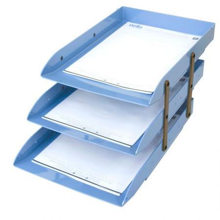 Caixa correspondência tripla articulável - Azul claro - 3044.B - Dello