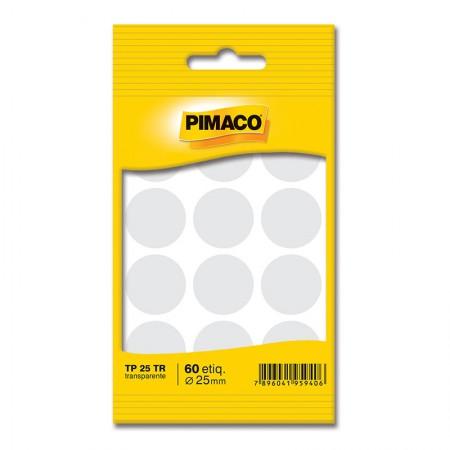 Etiqueta adesiva TP25 - transparente - Pimaco