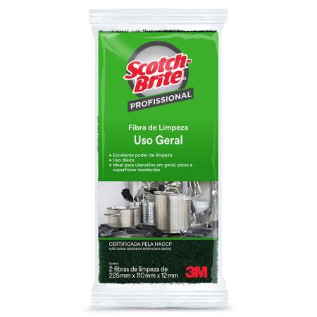 Fibra limpeza uso geral Scotch-Brite - com 2 unidades - 3M